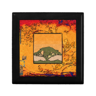 Africa retro vintage style gifts trinket box