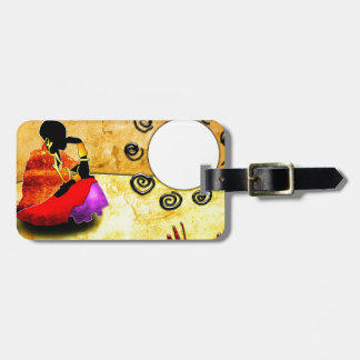 Africa retro vintage style gifts luggage tag