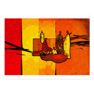 Africa retro vintage style gifts postcards