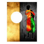 Africa retro vintage style gifts postcard