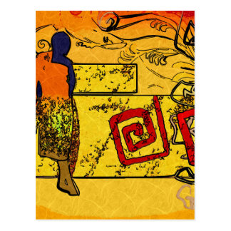 Africa retro vintage style gifts post card
