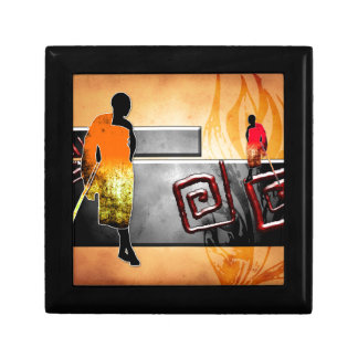 Africa retro vintage style gifts small square gift box