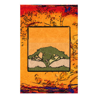 Africa retro vintage style gifts stationery paper