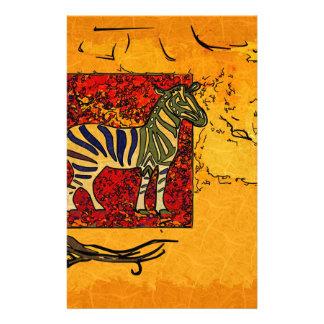 Africa retro vintage style gifts custom stationery