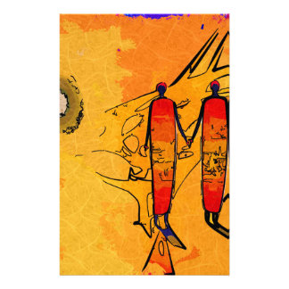Africa retro vintage style gifts stationery