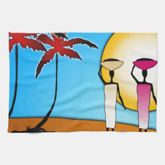 Africa retro vintage style gifts tea towel