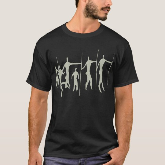 Africa rock painting humans africa cave kind T-Shirt