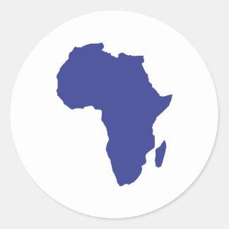 Africa Round Sticker