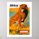 Africa ~ Sabena Poster