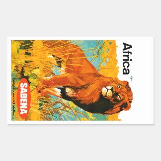 Africa ~ Sabena Rectangular Sticker