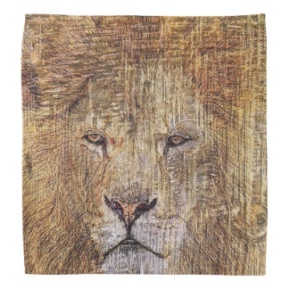 Africa safari animal wildlife majestic lion bandana