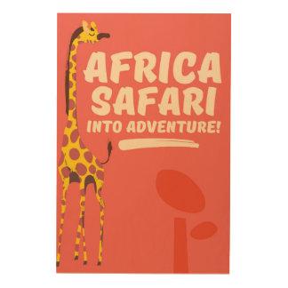 Africa Safari Into Adventure! Wood Wall Art