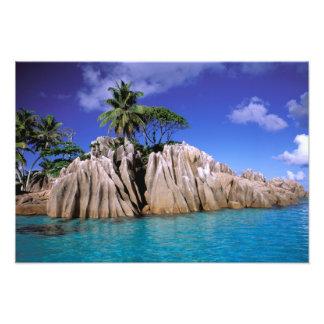 Africa, Seychelles, La Digue Island. Granite 2 Art Photo