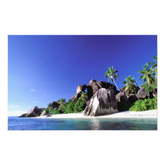 Africa, Seychelles, La Digue Island. Granite 3 Photo Print