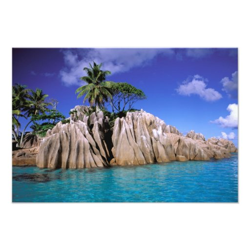 Africa, Seychelles, La Digue Island. Granite Art Photo