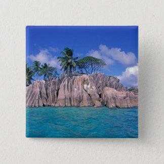 Africa, Seychelles, Praslin Island, St. Pierre 15 Cm Square Badge