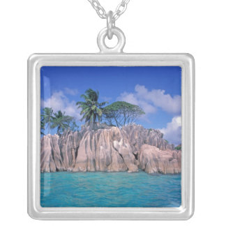 Africa, Seychelles, Praslin Island, St. Pierre Silver Plated Necklace