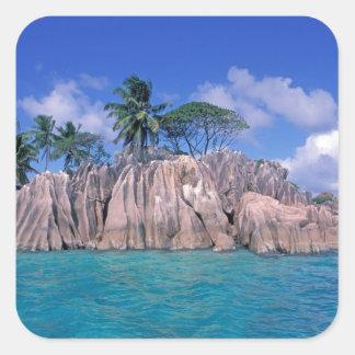 Africa, Seychelles, Praslin Island, St. Pierre Square Sticker