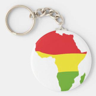 africa shape flag basic round button key ring