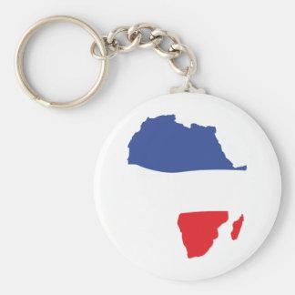 africa shape french flag basic round button key ring