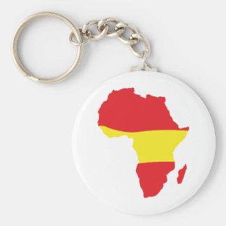 africa shape spain flag basic round button key ring
