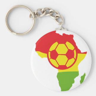 africa soccer ball flag basic round button key ring