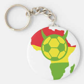 africa soccer devil football basic round button key ring