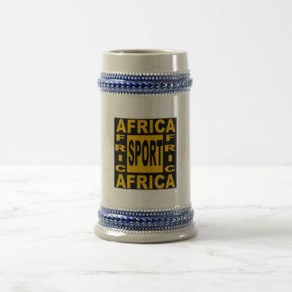 AFRICA SPORT CATCHES BEER STEIN