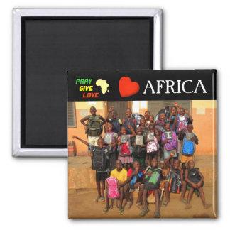 Africa Square Magnet