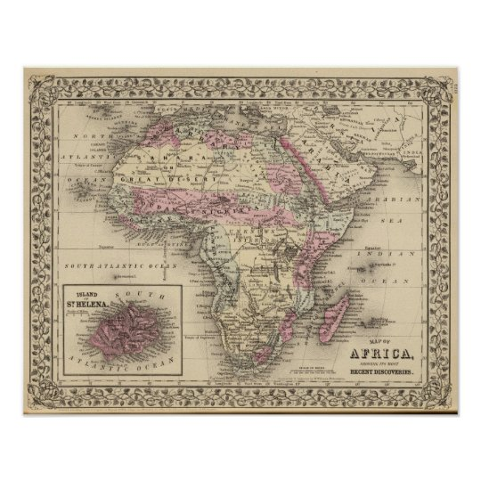 Africa St Helena Poster