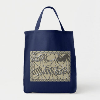 Africa steel on cement tote bag