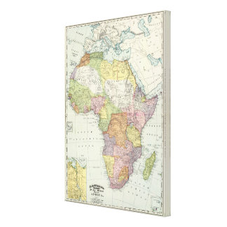 Africa, Suez Canal Stretched Canvas Print