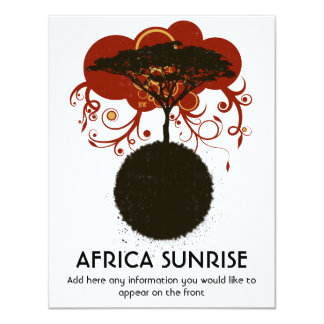 Africa sunrise customisable 11 cm x 14 cm invitation card