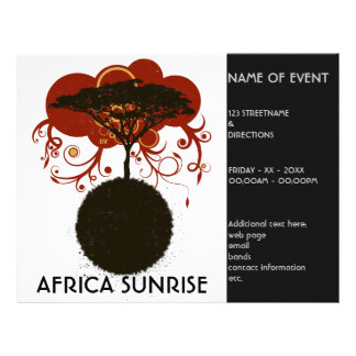 Africa sunrise customisable flyers