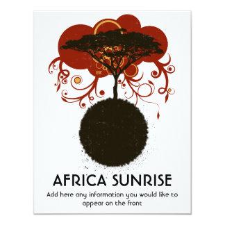 Africa sunrise customisable personalised invite