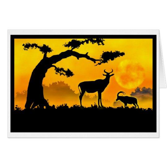 Africa sunset Birthday Card