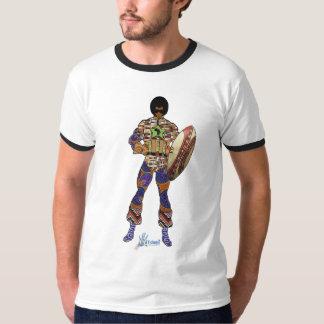 africa super hero black T-Shirt