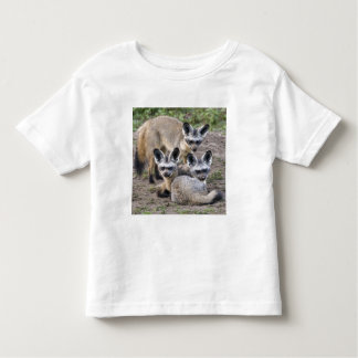 Africa. Tanzania. Bat-Eared Foxes at Ndutu in Toddler T-Shirt