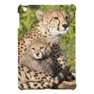 Africa. Tanzania. Cheetah mother and cubs 2 Case For The iPad Mini