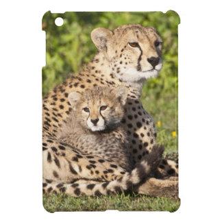 Africa. Tanzania. Cheetah mother and cubs 2 iPad Mini Case