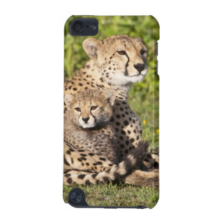 Africa. Tanzania. Cheetah mother and cubs 2 iPod Touch (5th Generation) Covers