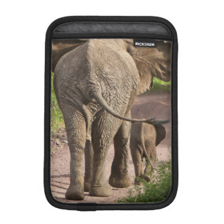 Africa. Tanzania. Elephant mother and calf at iPad Mini Sleeve