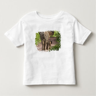 Africa. Tanzania. Elephant mother and calf at Toddler T-Shirt