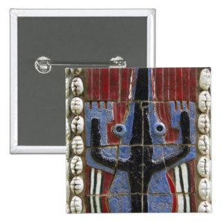 Africa, Togo, Kpalime. Artisan handicraft center 15 Cm Square Badge