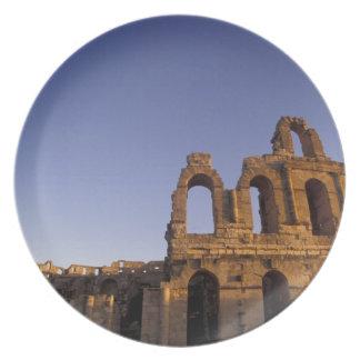 Africa, Tunisia, El Jem. Ruins of a Roman 2 Dinner Plates