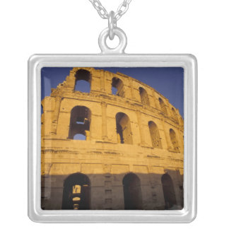 Africa, Tunisia, El Jem. Ruins of a Roman 3 Silver Plated Necklace