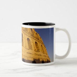 Africa, Tunisia, El Jem. Ruins of a Roman 3 Two-Tone Coffee Mug