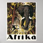 Africa vintage Travel Poster