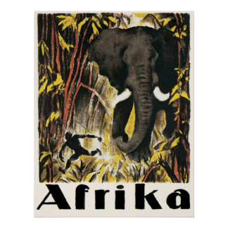 Africa vintage Travel Poster Posters