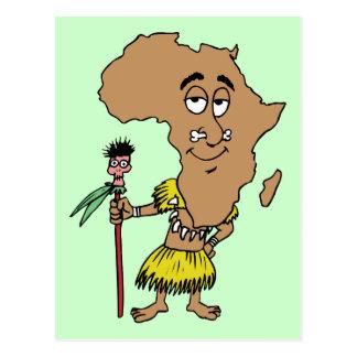 Africa Vintage Travel Souvenir Caricature Art Postcard